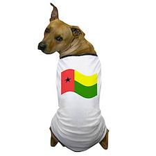 Waving Guinea-Bissau Flag Dog T-Shirt