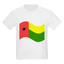 Waving Guinea-Bissau Flag T-Shirt