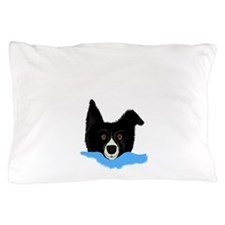 Border Collie Face V.png Pillow Case