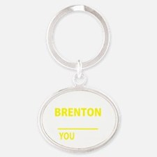 Cute Brenton Oval Keychain
