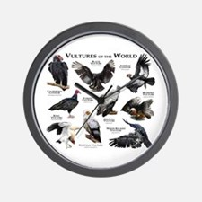 Vultures of the World Wall Clock