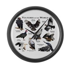 Vultures of the World Large Wall Clock