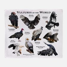 Vultures of the World Throw Blanket