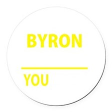 Cute Byron Round Car Magnet