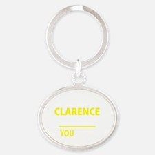 Cute Clarence Oval Keychain
