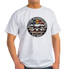 USN Aviation Machinists Mate Skull Flag 1 T-Shirt