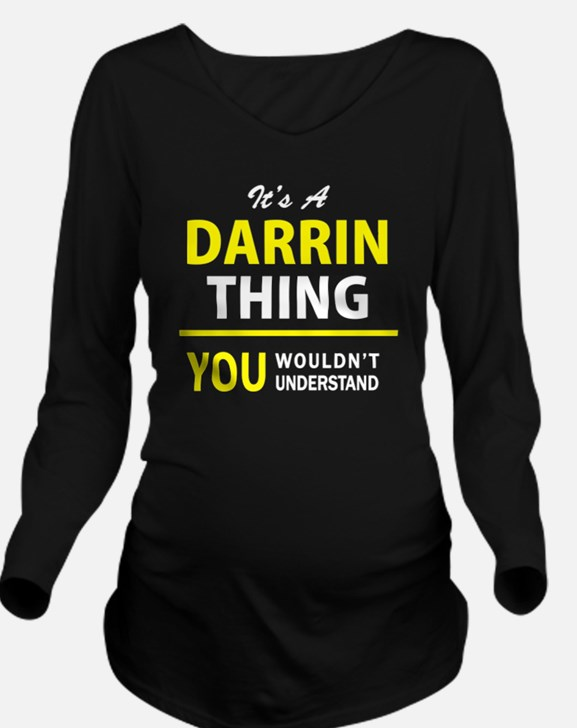 Cute Darrin Long Sleeve Maternity T-Shirt