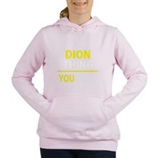 Cute Dion Women's Hooded Sweatshirt