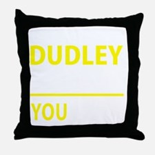 Cute Dudley Throw Pillow