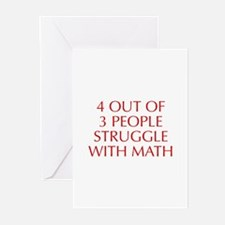 4-OUT-OF-3-PEOPLE-OPT-RED Greeting Cards