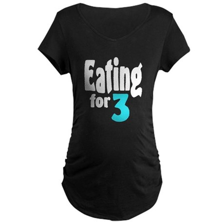 Eating for Three! Maternity Dark T-Shirt