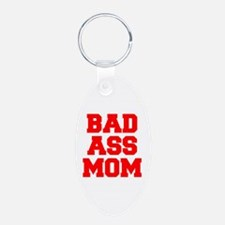 bad-ass-mom-FRESH-RED Keychains