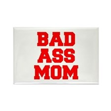 bad-ass-mom-FRESH-RED Magnets