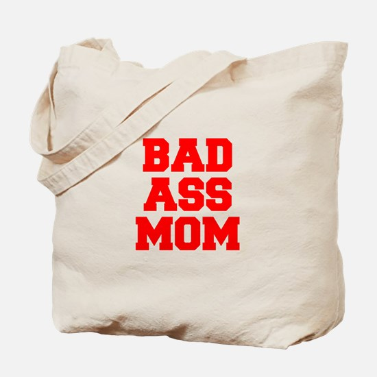bad-ass-mom-FRESH-RED Tote Bag
