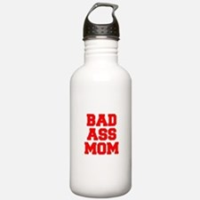 bad-ass-mom-FRESH-RED Water Bottle