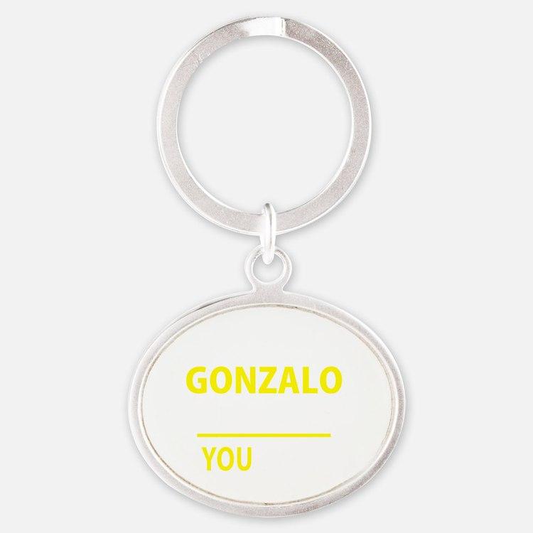 Cute Gonzalo Oval Keychain