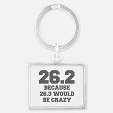 BECAUSE-26.3-WOULD-BE-CRAZY-FRESH-GRAY Keychains
