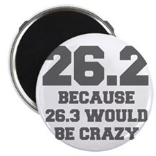 BECAUSE-26.3-WOULD-BE-CRAZY-FRESH-GRAY Magnets