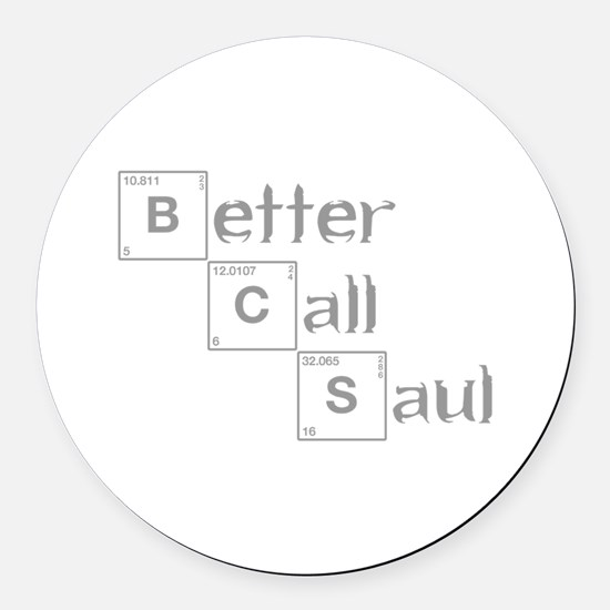 better-call-saul-breaking-gray Round Car Magnet