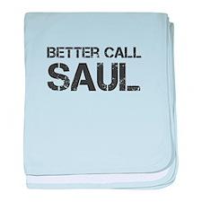 better-call-saul-cap-dark-gray baby blanket