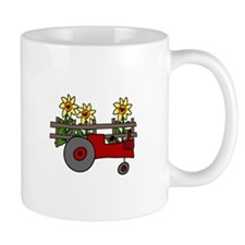 Farm Farming Fence Sunflower Country Tractor Mugs