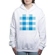 Cute Blue plaid Women's Hooded Sweatshirt