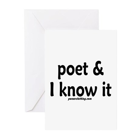 Poet & I Know It Greeting Cards (Pk of 10)