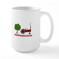 Farm Farming Fence Tree Country Tractor Mugs