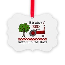 If it aint RED Keep it in the Shed Ornament