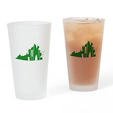 Virginia Home Drinking Glass