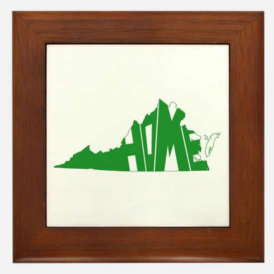 Virginia Home Framed Tile