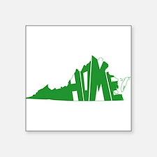 "Virginia Home Square Sticker 3"" x 3"""