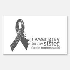 I Wear Grey For My Sister Decal