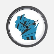 Wisconsin Home Wall Clock