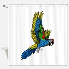 Flying Macaw Parrot Shower Curtain