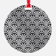 Elegant Black and Silver Art Deco Ornament