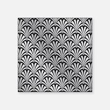Elegant Black and Silver Art Deco Sticker
