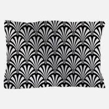 Elegant Black and Silver Art Deco Pillow Case