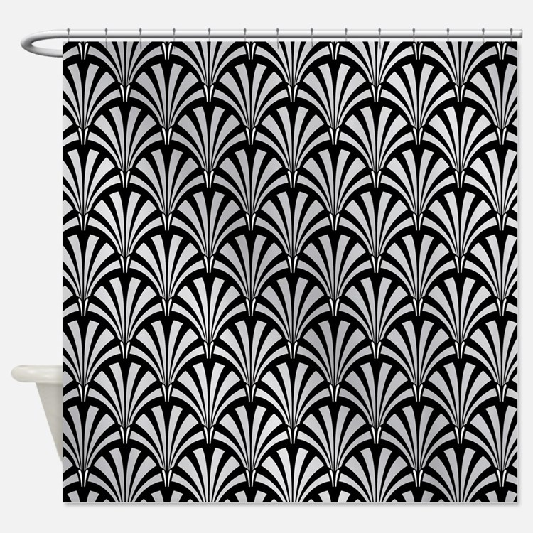 Art Deco Fabric Shower Curtain