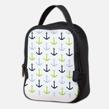 Midnight Blue, Baby Blue, Lime Green Nautical Anch