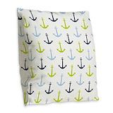 Anchor Burlap Pillows