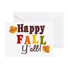 Happy Fall Yall! Greeting Cards
