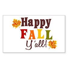 Happy Fall Yall! Decal
