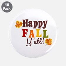 """Happy Fall Yall! 3.5"""" Button (10 pack)"""