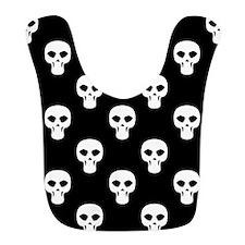 Black and White Skulls Pattern Bib