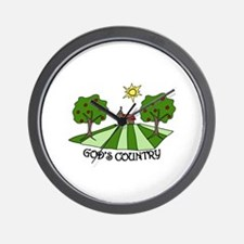 GODS COUNTRY Wall Clock