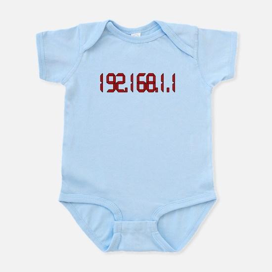 192.168.1.1 Red Infant Bodysuit