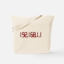 192.168.1.1 Red Tote Bag
