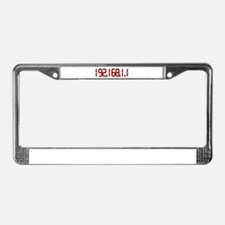 192.168.1.1 Red License Plate Frame