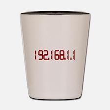 192.168.1.1 Red Shot Glass